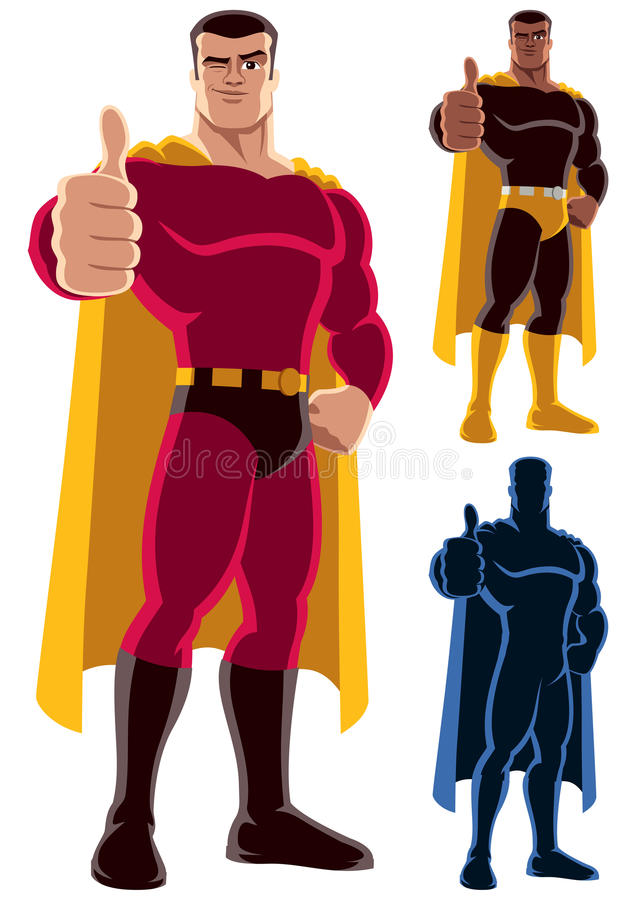 Superherogodkännande royaltyfri illustrationer