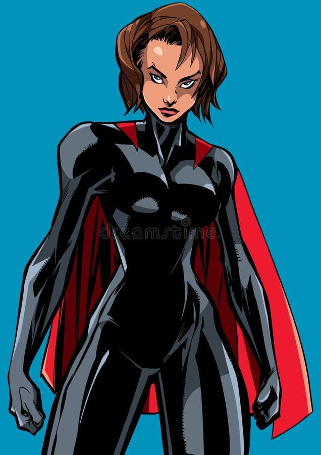Superheroine Battle Mode No Mask stock illustration