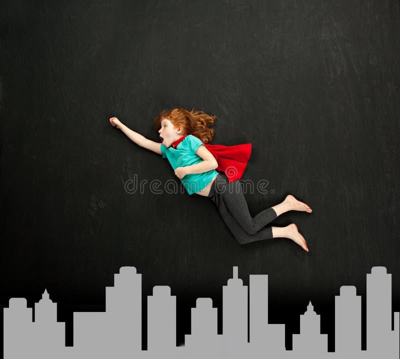 Superheroine doce pequeno imagens de stock
