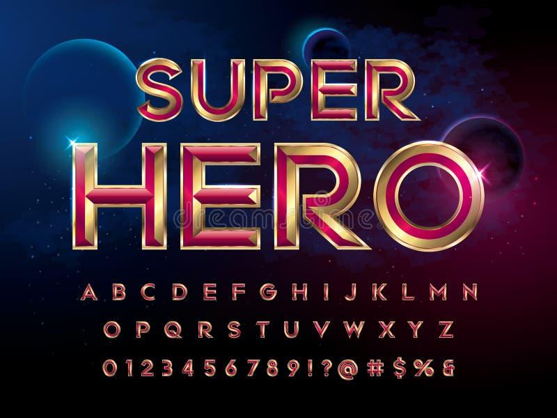 SuperHerostilsort stock illustrationer