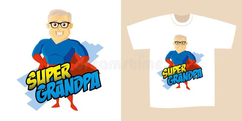 Superherotecknad filmtecken royaltyfri illustrationer