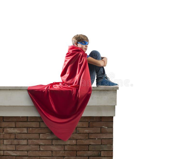 Superherounge. arkivbilder