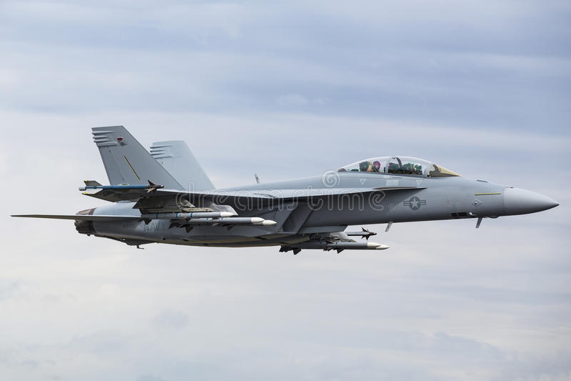 Superhornisse Boeings F/A-18E/F stockbild