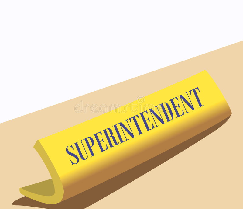 Superintendent royalty free illustration
