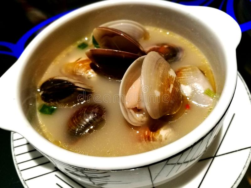 Superior Soup. Xiong tong la-la or sha bak is a popular soup dish served in many restaurant stock image