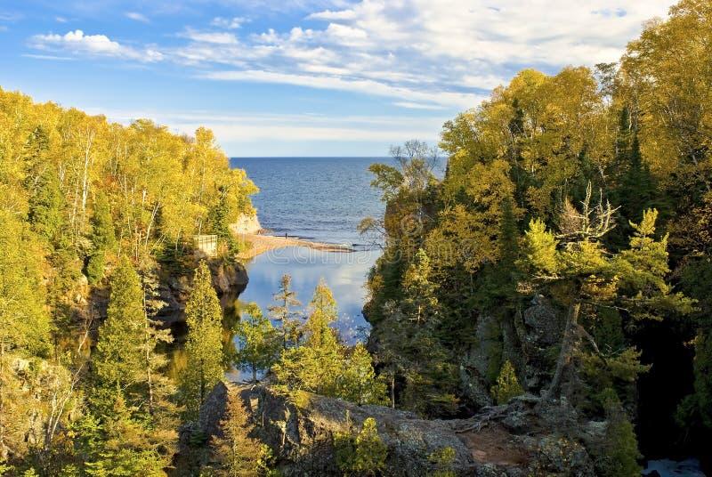 Superior del río del bautismo, lago, Minnesota fotos de archivo