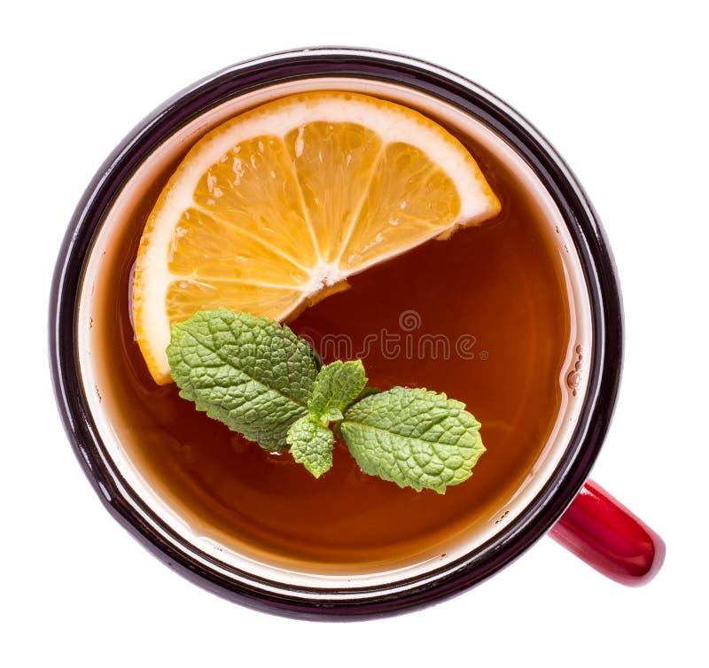 Superior del té aislado fotos de archivo libres de regalías