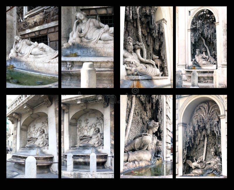 Fontes do delle Quattro Fontane da praça, Roma fotografia de stock royalty free