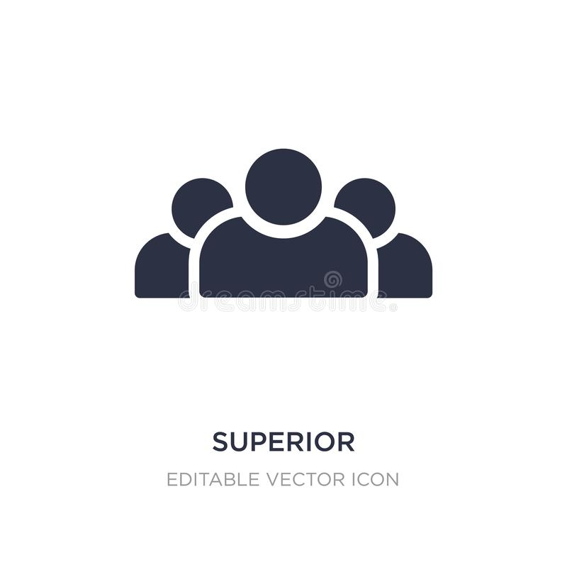 superior icon on white background. Simple element illustration from Signs concept stock illustration