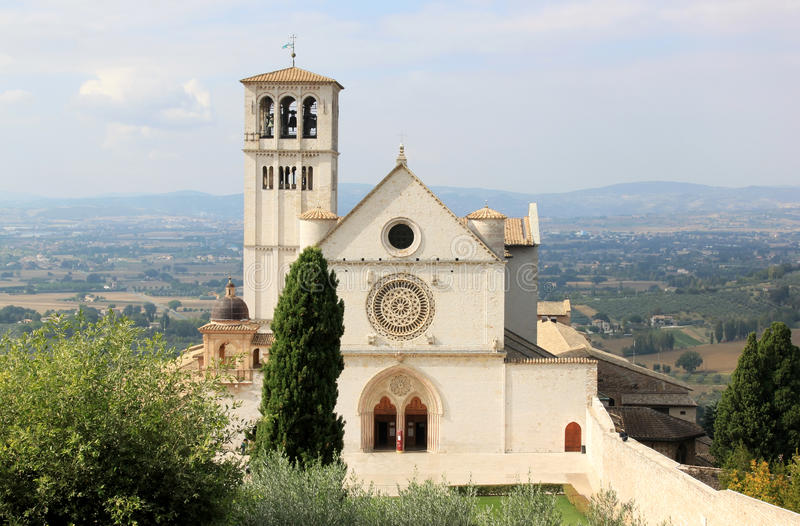 Superiore di Сан Francesco базилики, Assisi стоковые фотографии rf