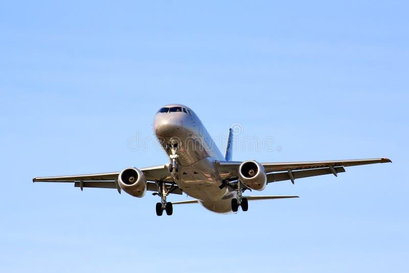 Superjet 100 de Aeroflot Sukhoi fotos de stock royalty free