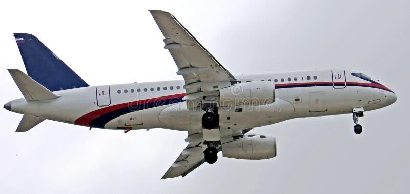 Superjet de Sukhoi 100 (1) fotografía de archivo libre de regalías