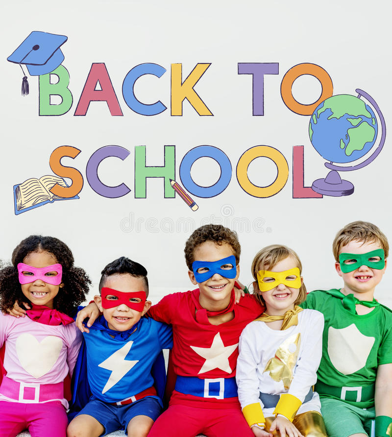 SuperKids Back To School Enjoyment Concept Stock Photo - Image of ...