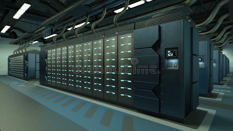 Superkomputeru centrum royalty ilustracja