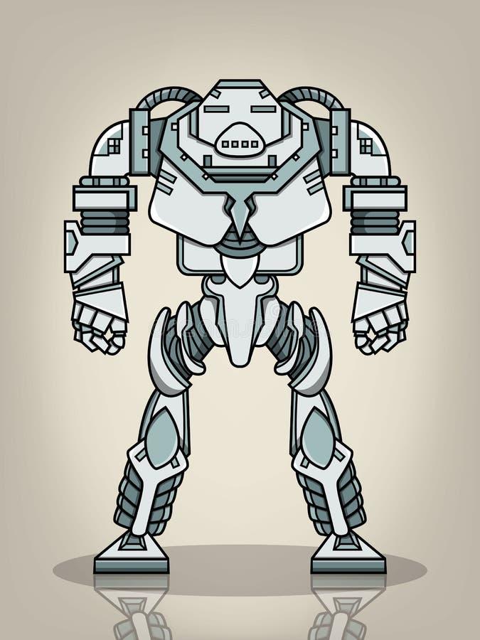 Superkriegs-Roboter lizenzfreie abbildung