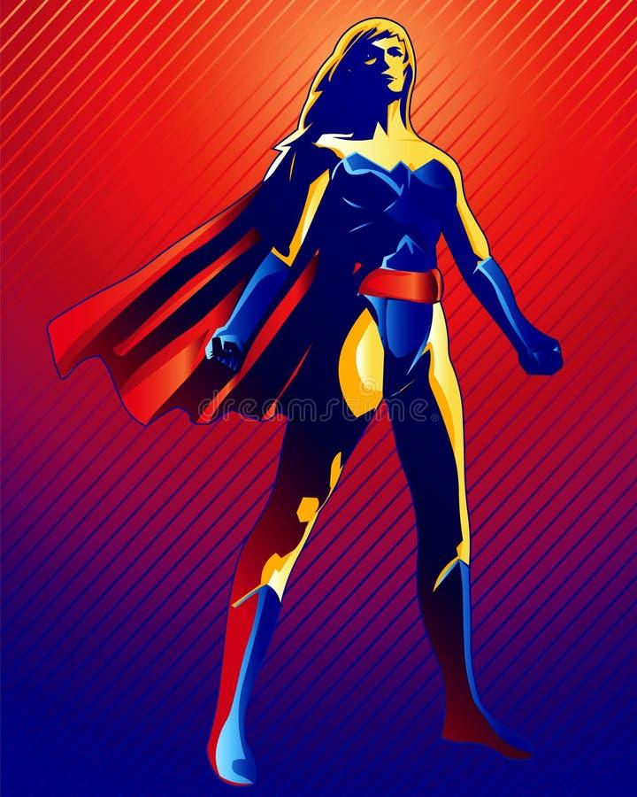 superkvinna stock illustrationer