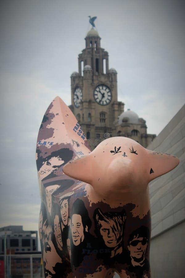 Superlambanana i Królewski Wątrobowy Buduje Liverpool w UK, obrazy royalty free