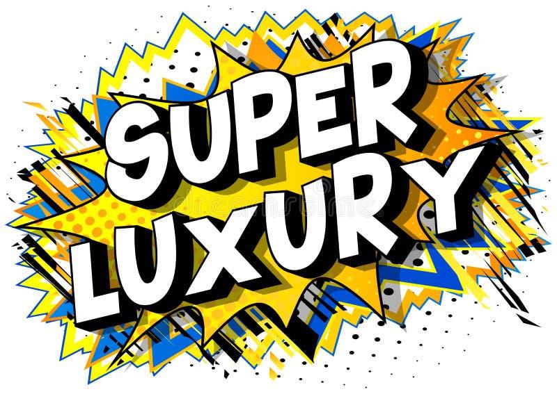 Superluxus - Comic-Buch-Artwörter stock abbildung