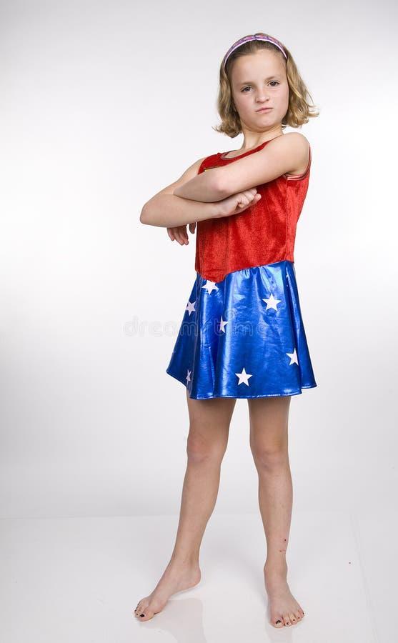 Supermädchen stockfotografie