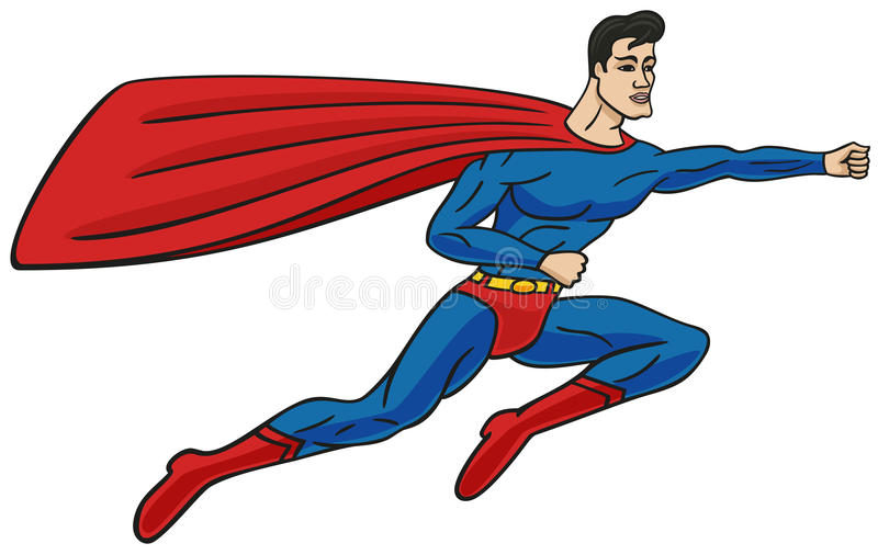 Superman. illustrazione vettoriale