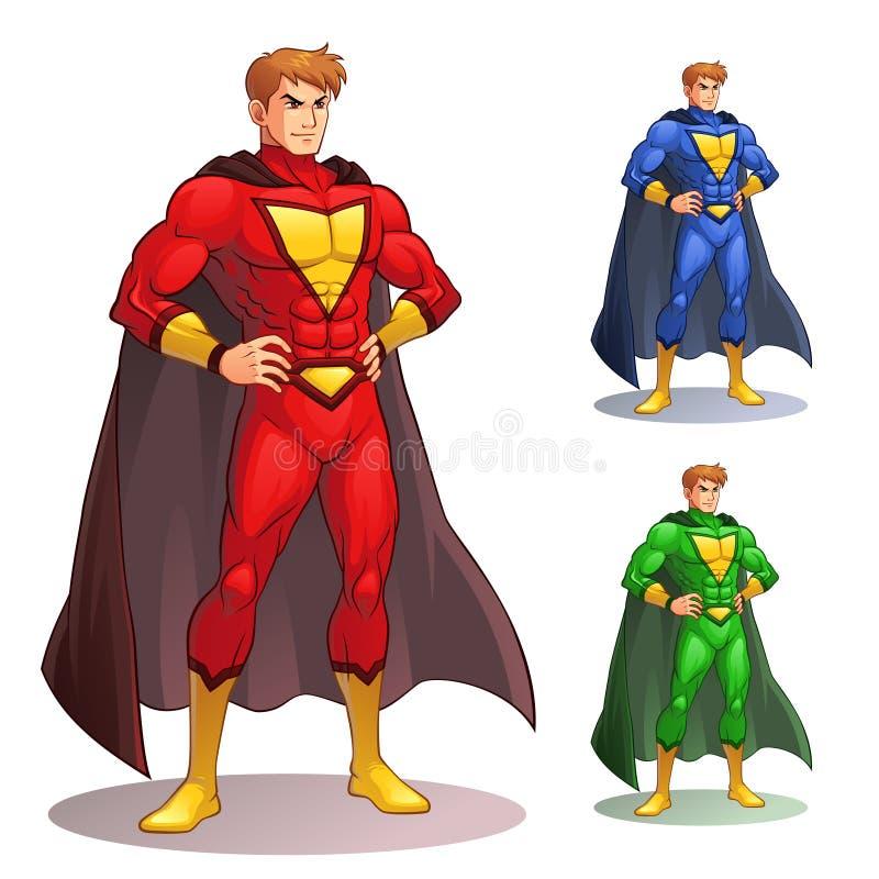 Superman grand illustration stock