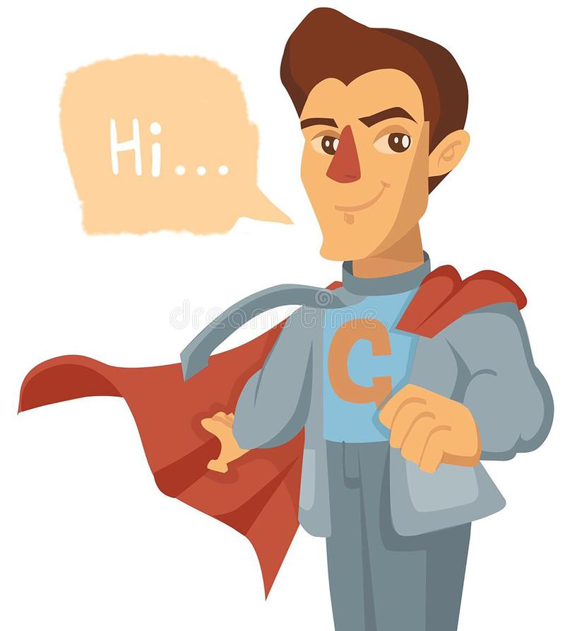 Superman, jeune type de superstar illustration stock