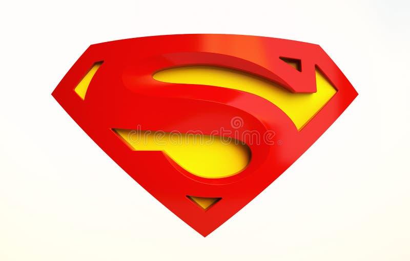 Superman logo vector illustration