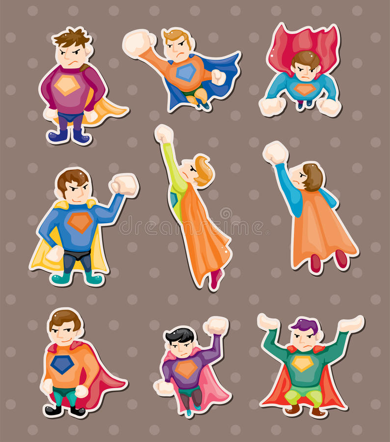 Superman stickers stock illustration