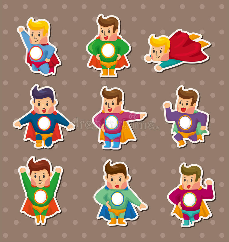 Superman stickers vector illustration