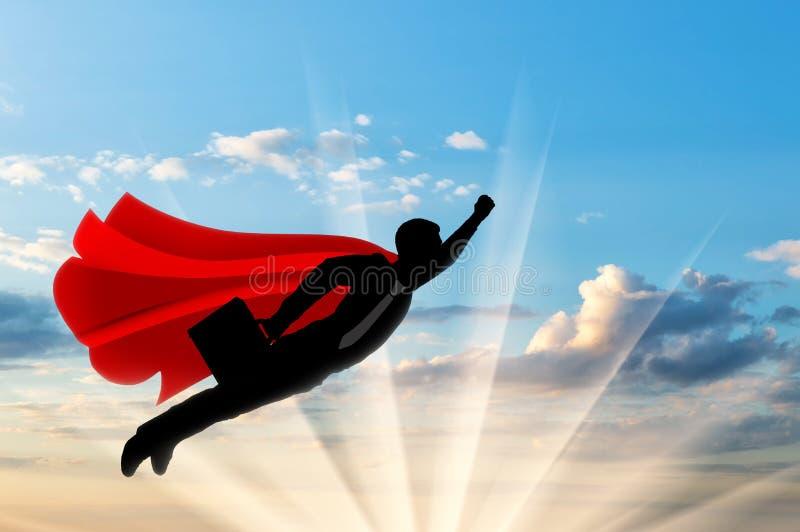 Supermanngeschäftsmannsuperheld stockbilder