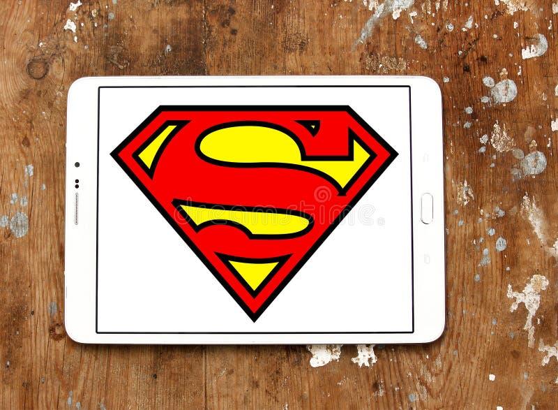 Supermannlogo stockfotos