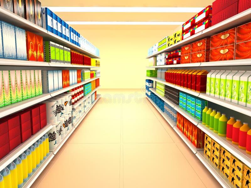 Supermarché illustration stock