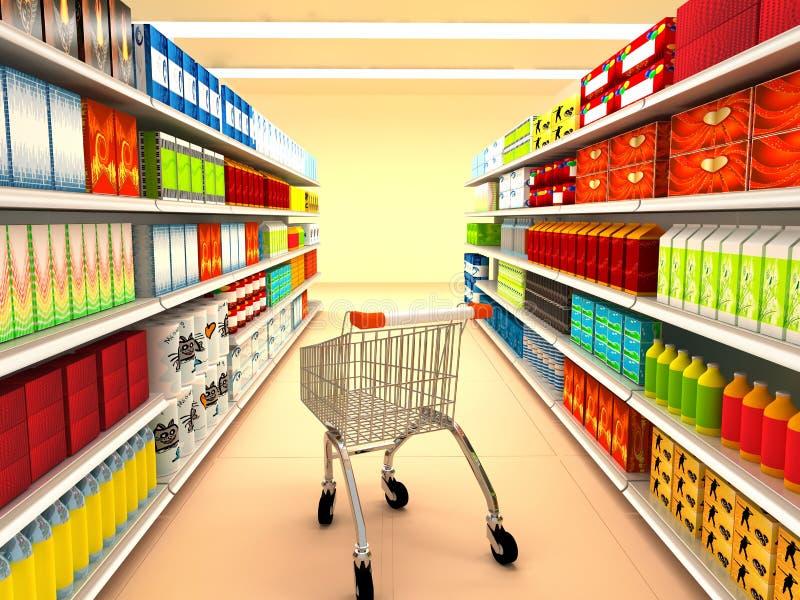 Supermarché illustration libre de droits