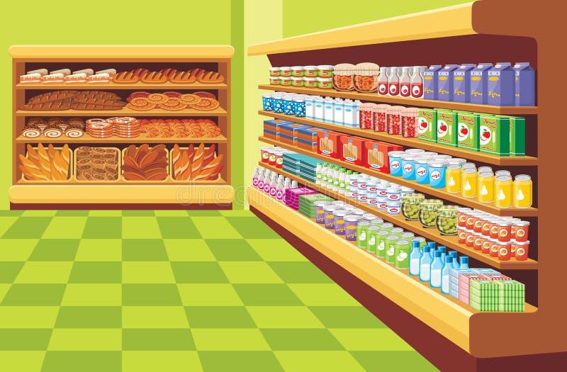 Supermarché. illustration stock