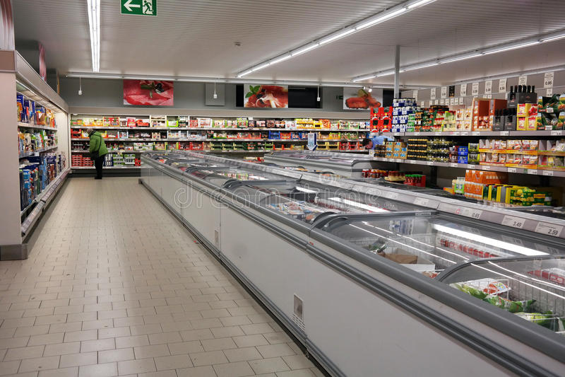 Supermarché d'Aldi photo stock