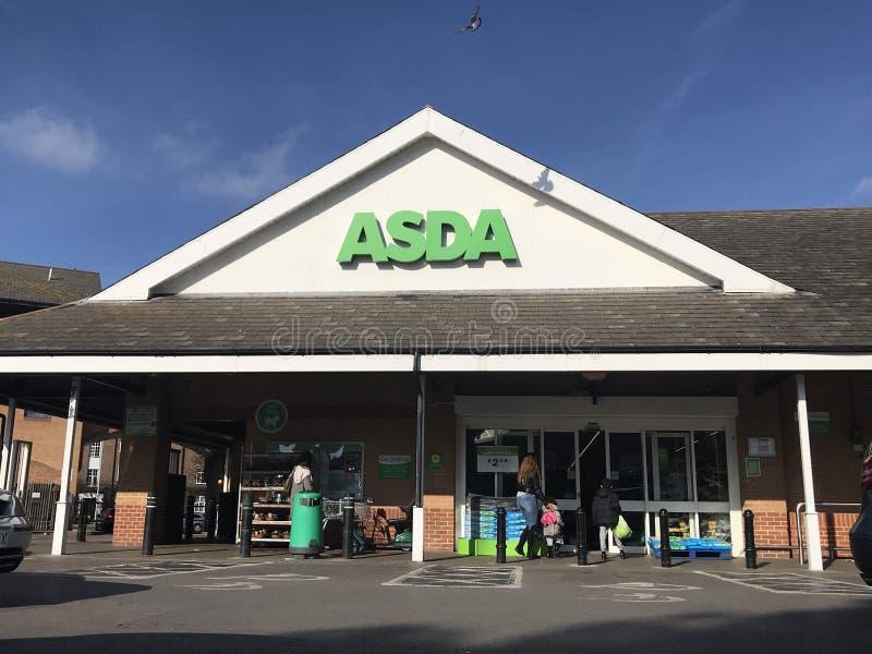 Supermarché d'Asda images stock