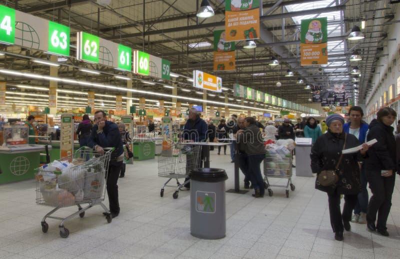 Supermarché dans la Fédération de Russie suzdal et images stock