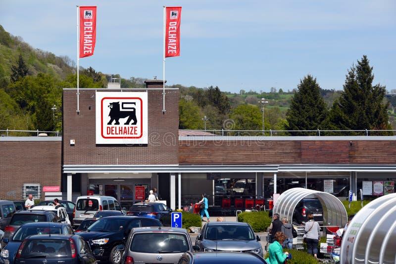 Supermarché de Delhaize image libre de droits