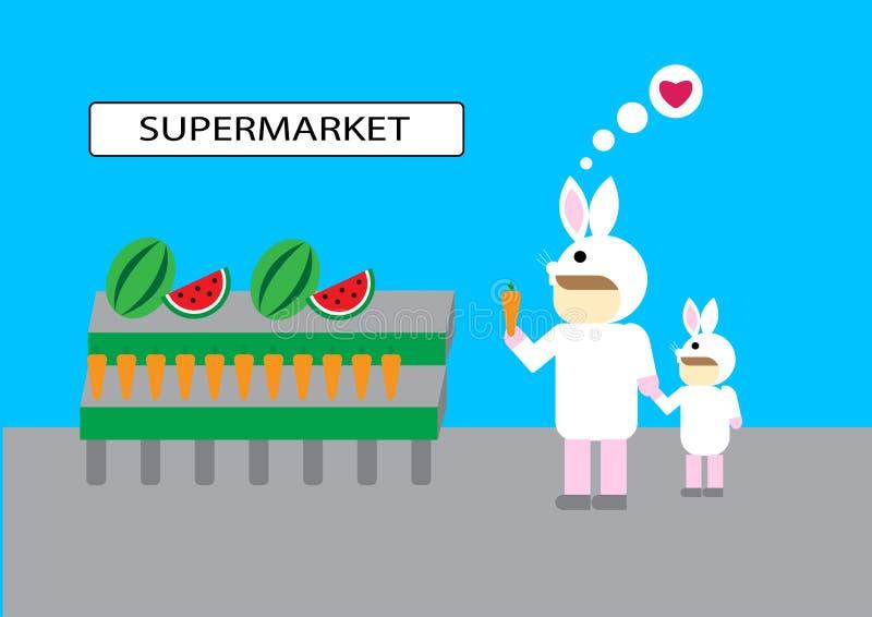 Supermarché de légume fruit de marchandises d'achat de personnes photo libre de droits