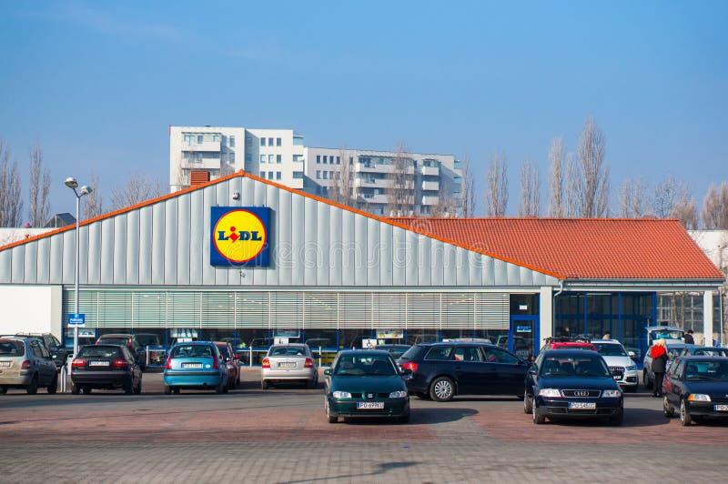 Supermarché de Lidl photos stock