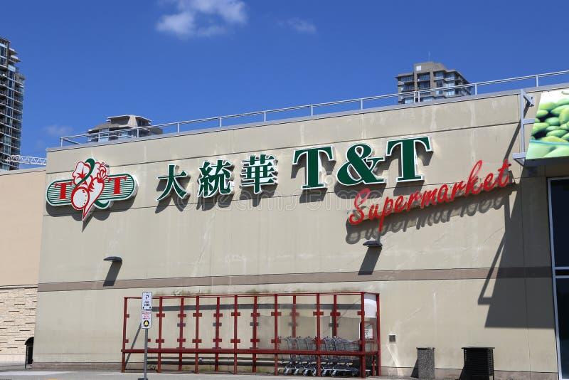Supermarché de T et de T images stock