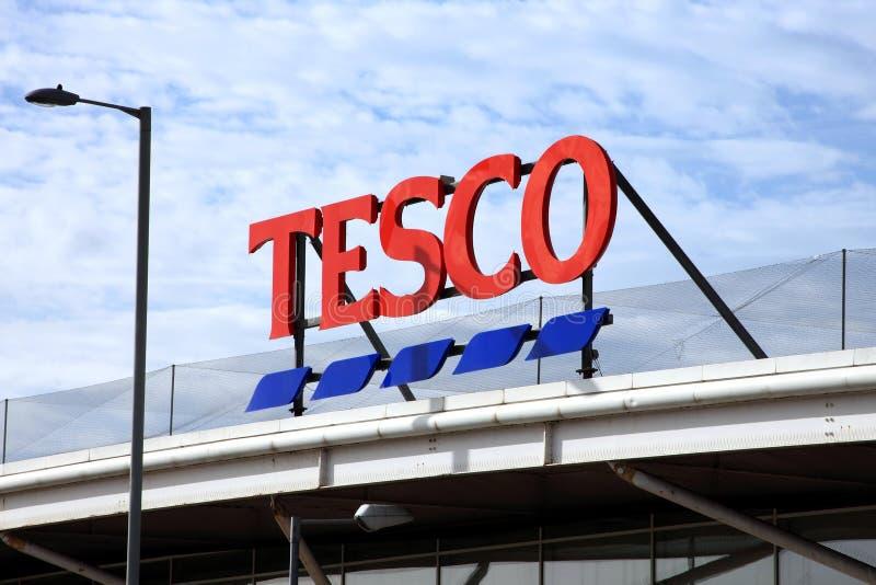 Supermarché de Tesco image libre de droits