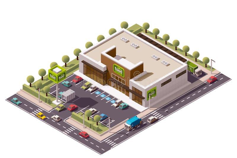 Supermarché isométrique de vecteur illustration libre de droits