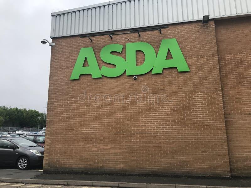 Supermarch? d'Asda photo stock