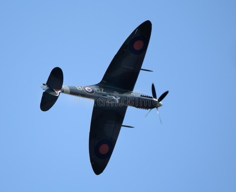 The Supermarine Spitfire is a British single-seat fighter aircraft used by the Royal Air Force and other Allied countries. Flying Legends air show, Imperial War stock photography