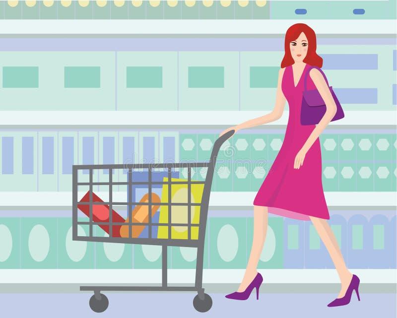 supermarket vektor illustrationer