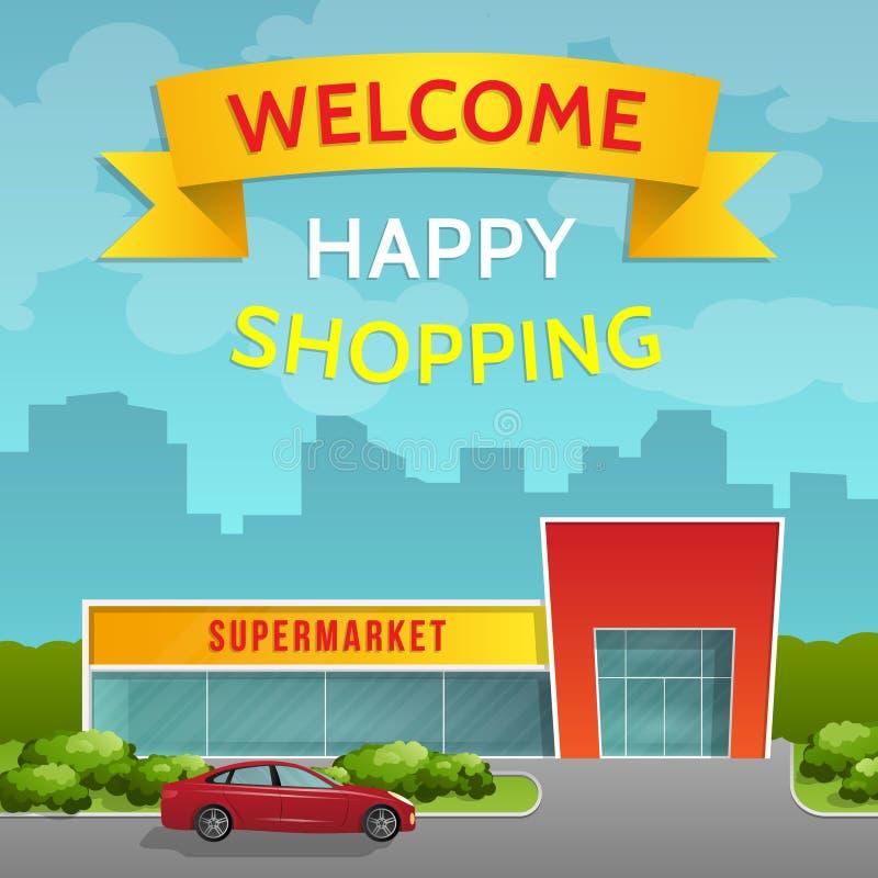 supermarket stock illustrationer