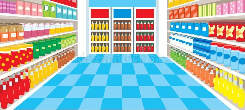 Download Supermarket stock vector. Image of basket, color, equipment - 22079563