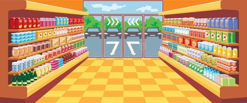 Supermarket. stock illustrationer