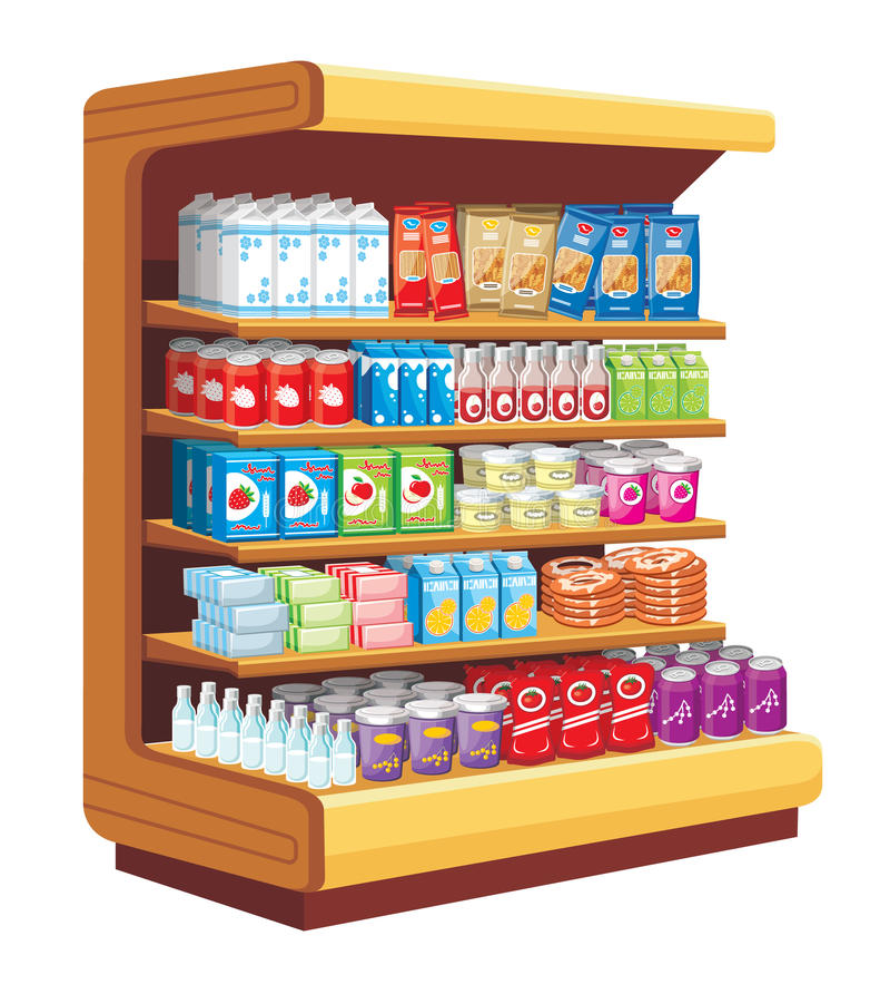 Supermarket. ilustracji